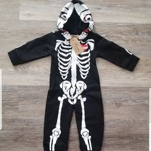 ☠❤New Baby Skeleton Jumpsuit Outfit Costume 3-6 m